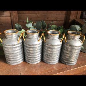 Mini milk cans
